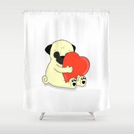 PugHugs Shower Curtain