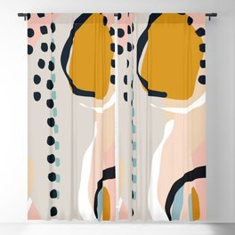 modern abstract Blackout Curtain
