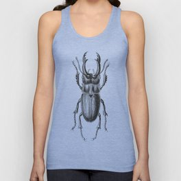 Vintage Beetle black and white Unisex Tank Top
