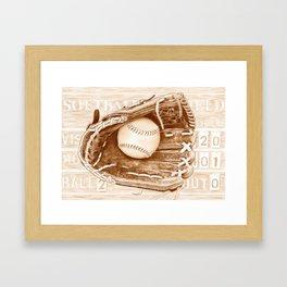 Softball Framed Art Print