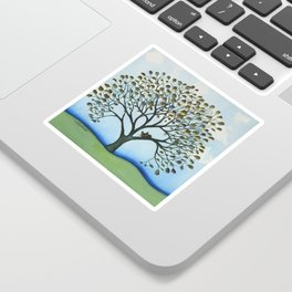 Cairo Whimsical Cat in Tree Sticker