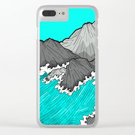 The Rocks And The Sea Clear iPhone Case