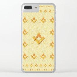 Freemason, Mason, Masonic, Lodge, Symbol, Setsquare, Compass Clear iPhone Case