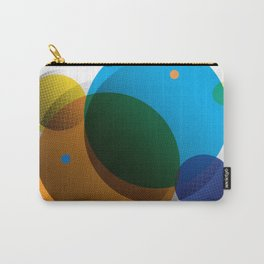 Overprint Circles 1 (Square) Carry-All Pouch