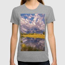 The Grand Tetons Autumn OLena Art Fall Colors Photography T-shirt