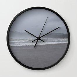 Nye Beach Fog  Wall Clock