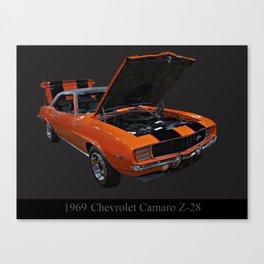 1969 Chevy Camaro Z28 Canvas Print