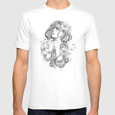 From A Tangled Dream White Mens Fitted Tee LARGE