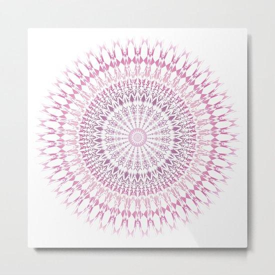 Rose White Mandala Metal Print