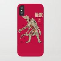 kaiju iPhone & iPod Cases featuring Kaiju Anatomy by MeleeNinja