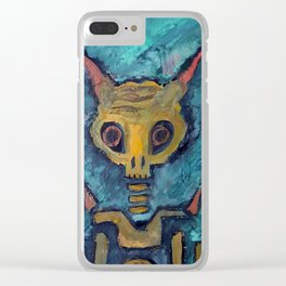 Rainy Day Demons Clear iPhone Case