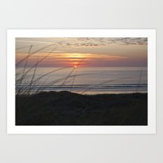 Sunset Surf Art Print
