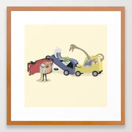 BandNames : Dinosaur Pile-Up Framed Art Print