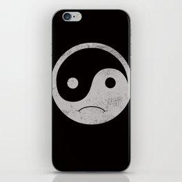 yin yang smiley ;-( iPhone Skin