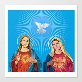 Jesus Christ and the Virgin Mary Canvas Print
