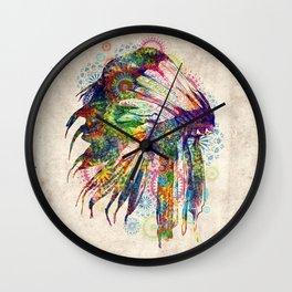 vintage mandala headdress Wall Clock