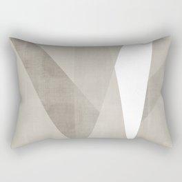 Desert Shadow | Abstract in Neutrals Rectangular Pillow
