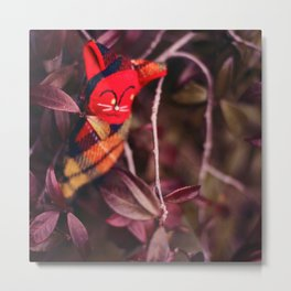 woodland spirit - red cat Metal Print
