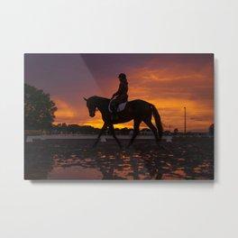 Sunset Practice Metal Print