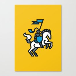 Knight on Yellow Canvas Print
