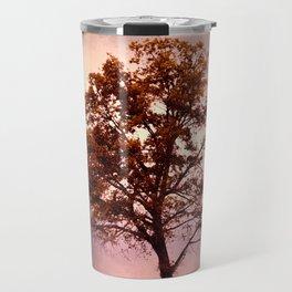 Coral Pink Sunrise Cotton Field Tree - Landscape  Travel Mug