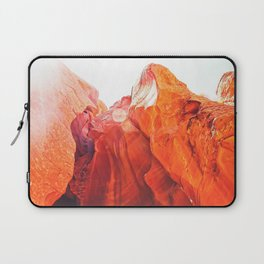 texture of the orange rock and stone at Antelope Canyon, USA Laptop Sleeve