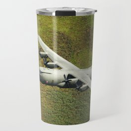 Low Flying Hercules With Special RAF Centenary Tail Art Travel Mug