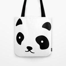 Minimalistic Panda face Tote Bag
