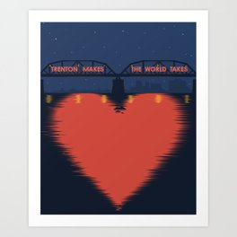 I Heart Trenton Art Print