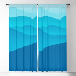 Blue Tranquility Blackout Curtain