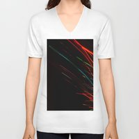 the lights V-neck T-shirts featuring lights by k. Reinstein