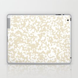 Small Spots - White and Pearl Brown Laptop & iPad Skin