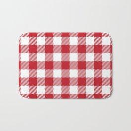 Buffalo Plaid - Red & White Bath Mat