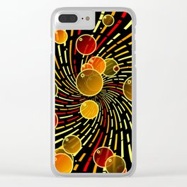 Bubbles and vortex Clear iPhone Case