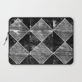 Chequers I Black Laptop Sleeve