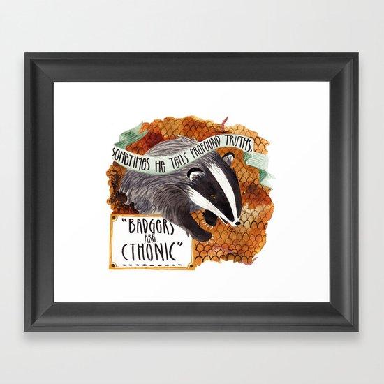 Badgers Framed Art Print