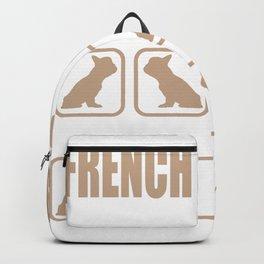 Stubborn French Bulldog Tricks design Backpack