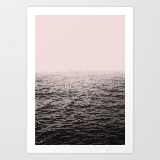 Sea in pink Art Print