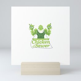 Chicken of the Sewer Mini Art Print