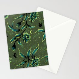 Queen of the Night - Green Stationery Cards