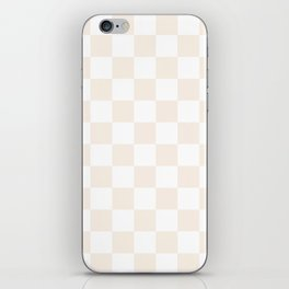 Checkered - White and Linen iPhone Skin