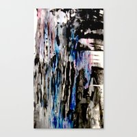 grunge Canvas Prints featuring Grunge by Paige Elizabeth