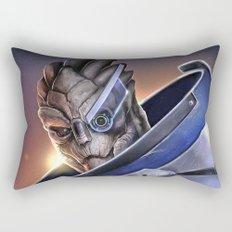 Garrus Vakarian Portrait - Mass Effect Rectangular Pillow