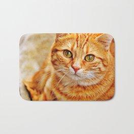 Cute red cat Bath Mat
