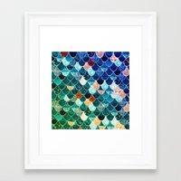 tiffany Framed Art Prints featuring REALLY MERMAID TIFFANY by Monika Strigel®