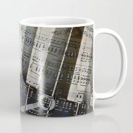 Piano Keys black and white - music notes Coffee Mug