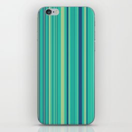 Deep Sea Green Candy Lines iPhone Skin