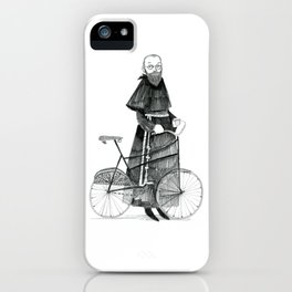 St. Maximilian and the Bicycle iPhone Case