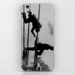Brooklyn Bridge Painters Vintage Photograph (1915) iPhone Skin
