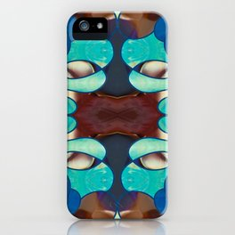 Inspired Blues Abstract Art By Omashte iPhone Case